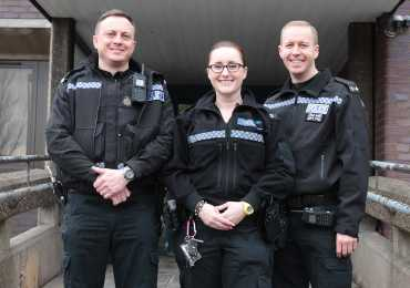 Emergency Services Award - Sgt Elliott Richardson, PC Sarah Currie and PC Michael Otterson