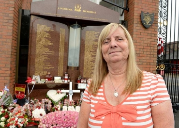 The Hillsborough families, presented to campaigner Margaret Aspinall