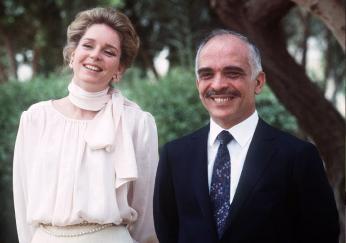 His Late Majesty King Hussein of Jordan and Her Majesty Queen Noor